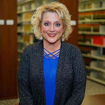 Technical Services Librarian Leanne Jordan
