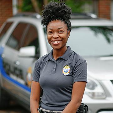 Jazmone Portis, Police Officer, Montgomery campus