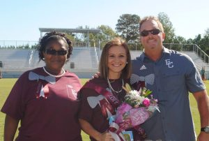 Faulkner University graduate Mary Lawless Jones was recently awarded Teacher of the Year of Elmore County High School.