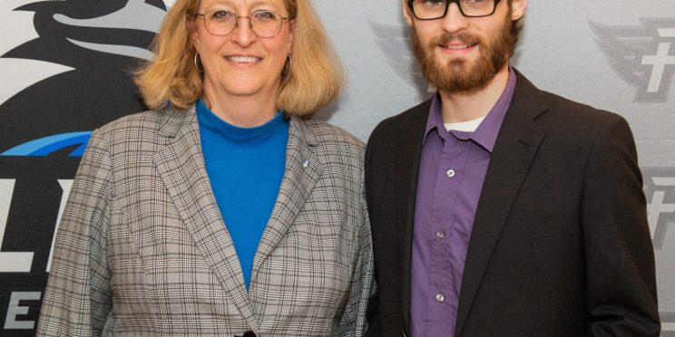 Christopher Smith, right, stands with Dr. Susan Hammond.