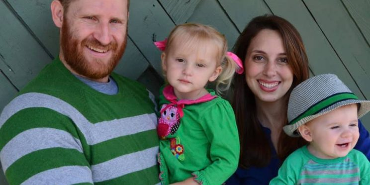 l-r Roberts and his wife Leigh and their two children, Adriana and Asher.