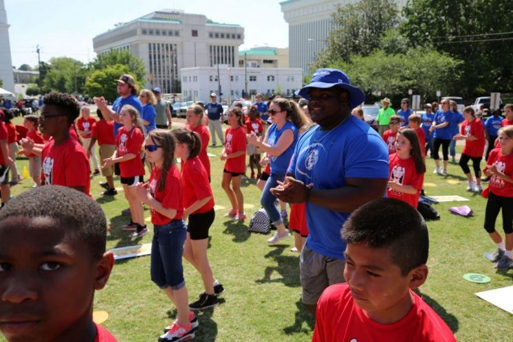 Faulkner Eagles join in on the fun during HEAL Day on May 1, 2019.