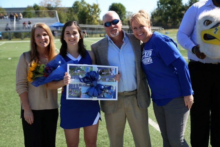 l-r Donna, Kinsey and Eric Fickling and Daysha Sandford.