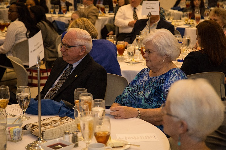Jim and Sue Crabtree at the 2018 Alumni Honors Luncheon.