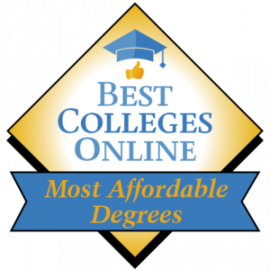 Best Colleges Online – Most Affordable Degrees badge