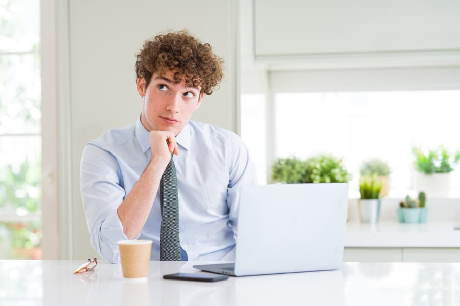 Business Student With Laptop