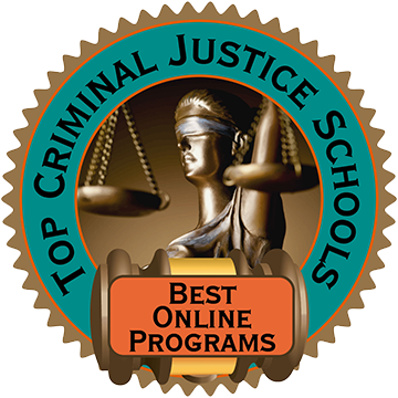Badge - Top Criminal Justice Schools Awards Best Online Program to Faulkner University
