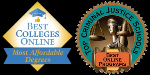 Best Colleges Online – Most Affordable Degrees And Top Criminal Justice Schools – Best Online Programs badges
