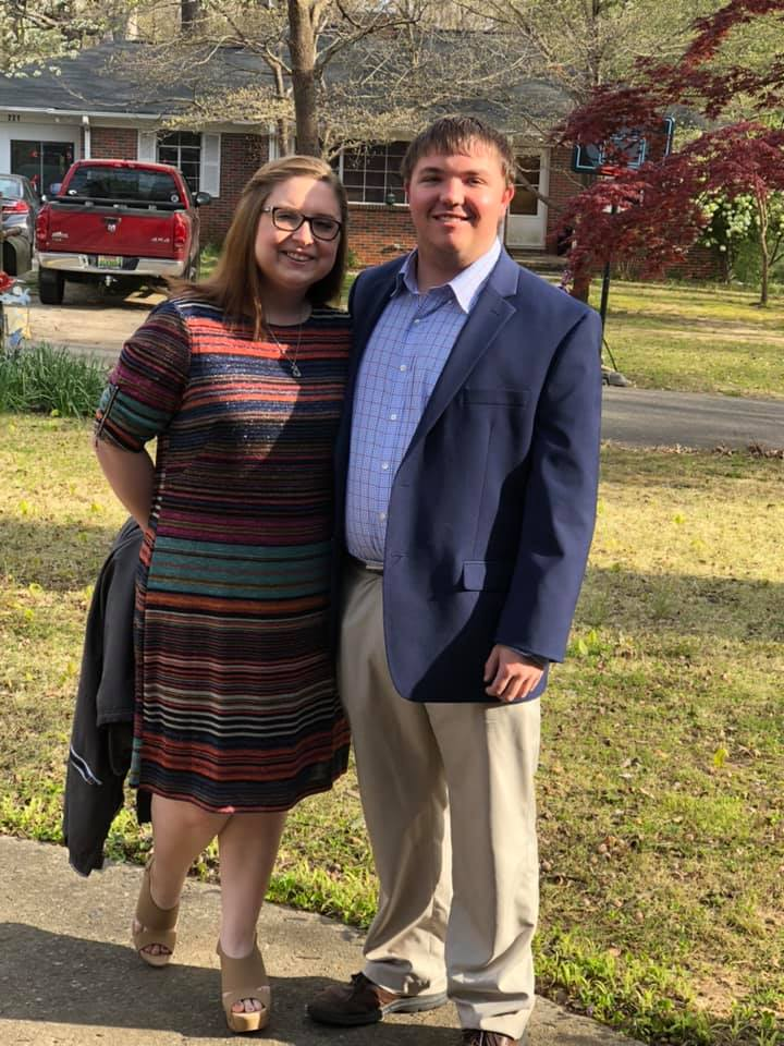 Cody Davis, right and  Keri Ratcliff. Davis currently works as a coach for Montevallo High School as well as a youth minister.