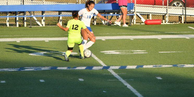 Nanako Omae plays midfield for the Faulkner Women's Soccer team.