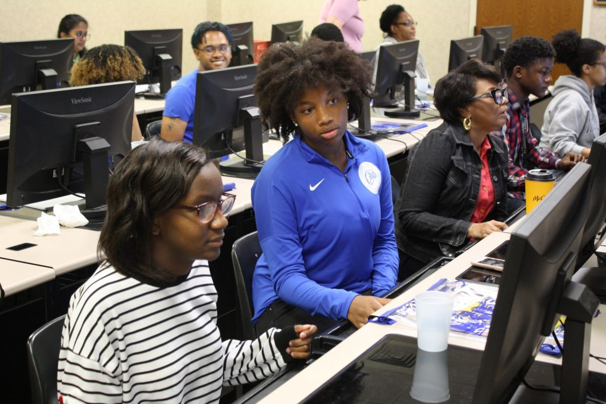 Students participate in Faulkner's first-ever EagleHack on Oct. 12, 2019.