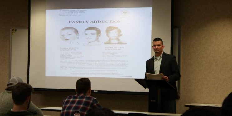 James Stephens speaks to students during the 2020 Marketplace Faith Friday Forums.