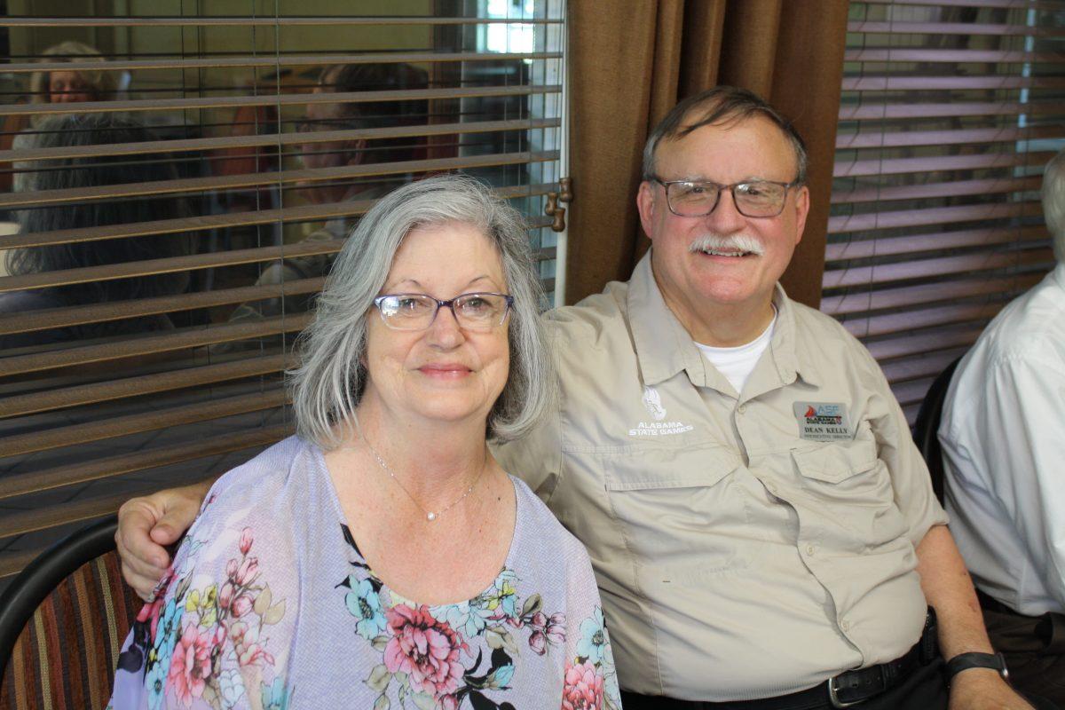 l-r Barbara Kelly and her husband Dean Kelly.
