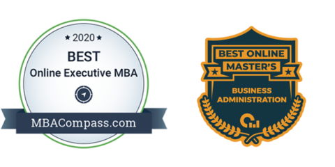 2020 Best Online Executive MBA – MBACompass.com badge
