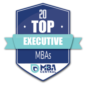 MBA Central 20 top Executive MBAs badge