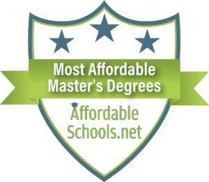 Most Affordable Master's Degrees Badge