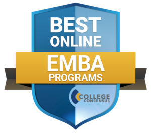 College Consensus bade for Best Online EMBA Programs 2019.
