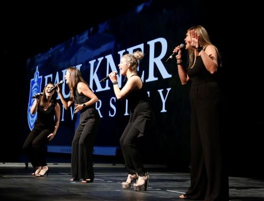 Alyssa Taylor, Lauri Ann Itson, Ashby Kasarjian and Leah Hunt sing during the 2019 Annual Benefit Dinner.