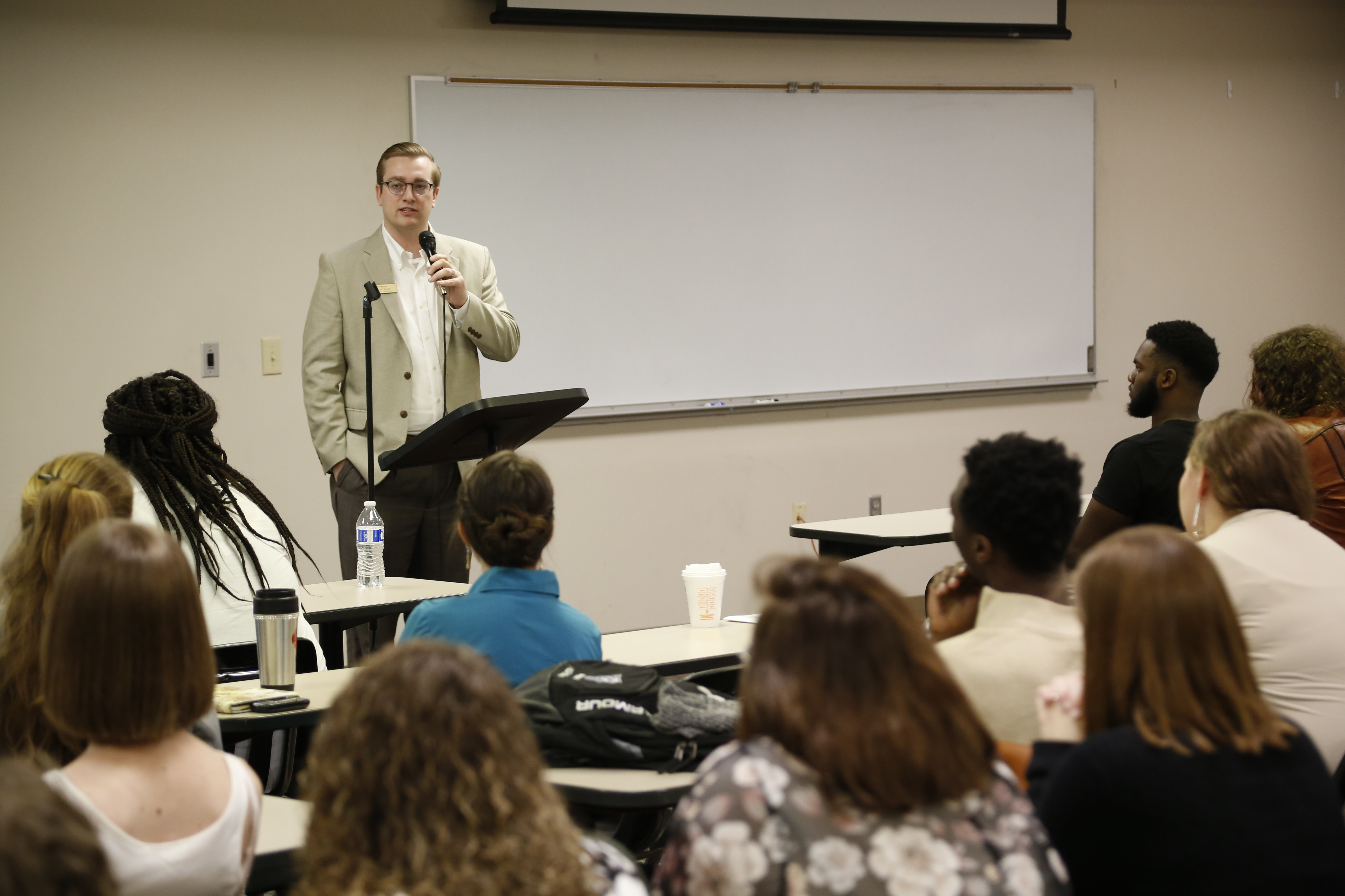 Neil Scott speaks during the 2019 Marketplace Faith Friday Forums.