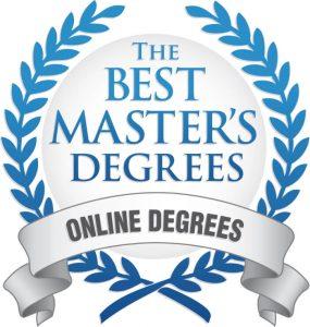 The Best Master's Degrees online badge.