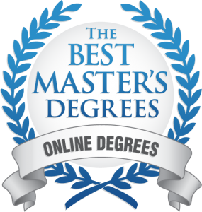 The Best Master's Degree Ribbon - Faulkner University ranked one of the top universities in the nation for having the best Executive MBA online degree programs by The Best Master's Degrees.