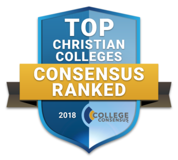 Badge - Faulkner is Awarded with the Top Christian Colleges Consensus Ranked 2018 School