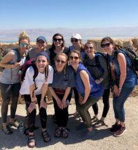 Students pose for a photo at Masada.
