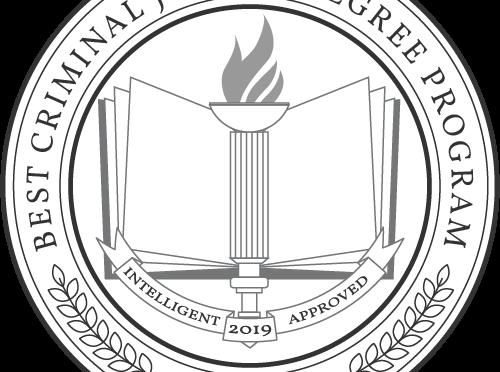 Cropped Photo of Best Criminal Just Degree Program Badge 2019