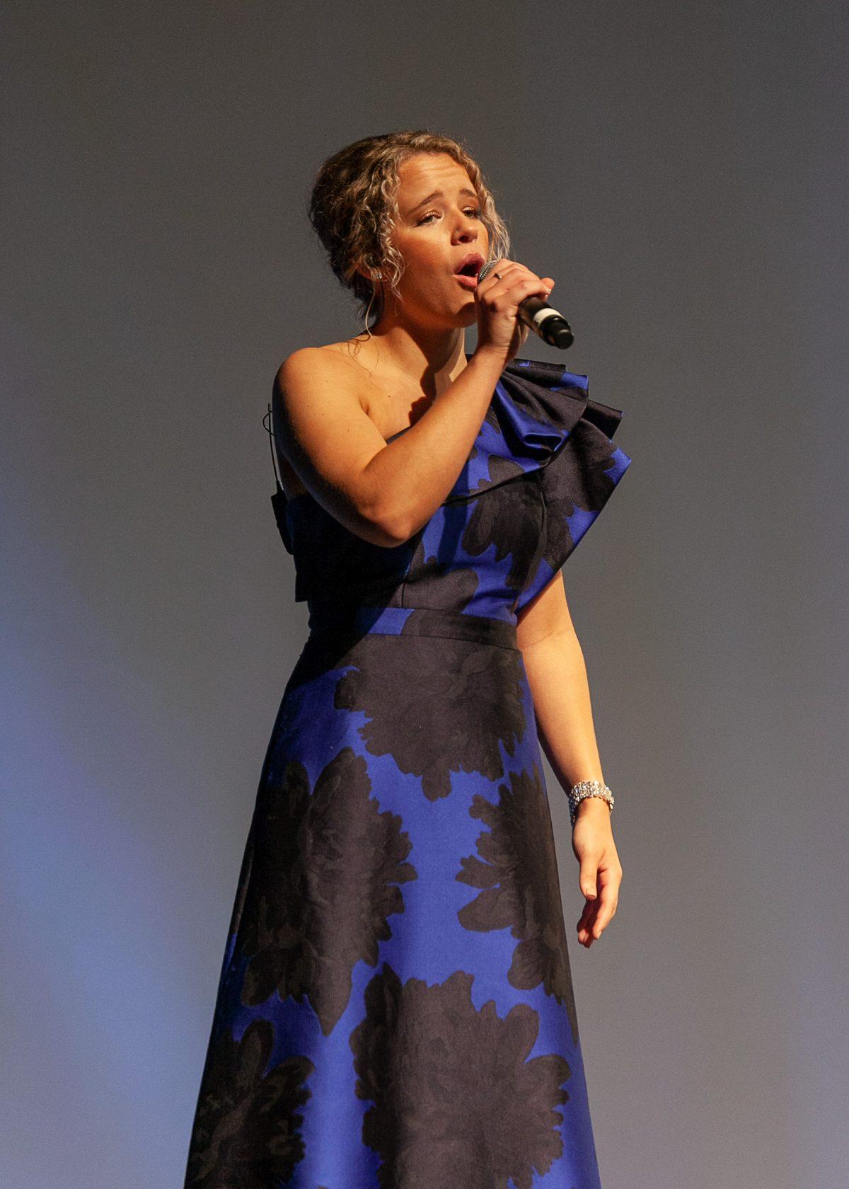 """Faulkner student Ashby Kasarjian sang Hero, by Mariah Carey during Faulkner's Annual Benefit Dinner on Oct. 3."""