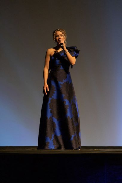 Ashby Kasarjian sings during the 2019 Annual Benefit Dinner