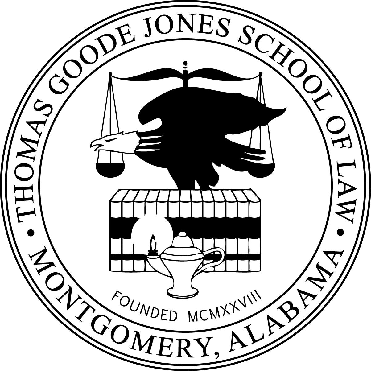 Law Logo Seal Black