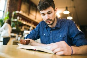 man-studying
