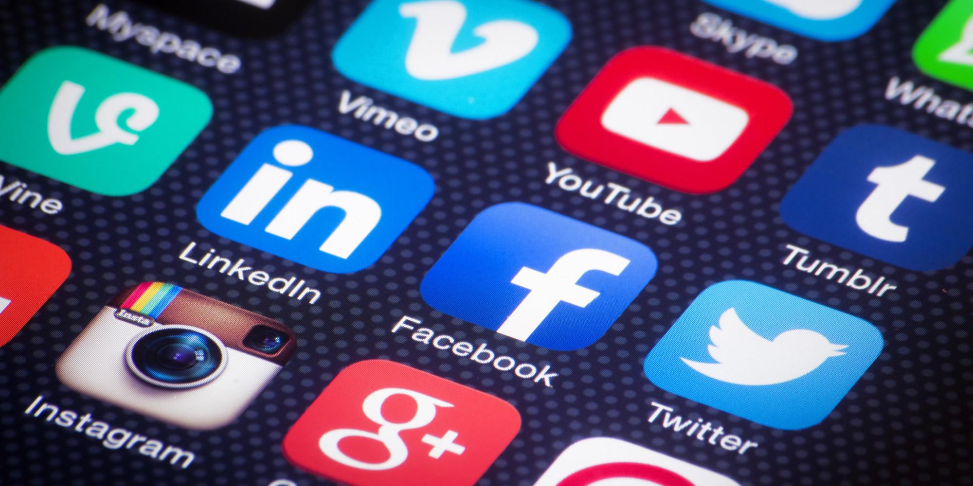 Social media apps on a screen.