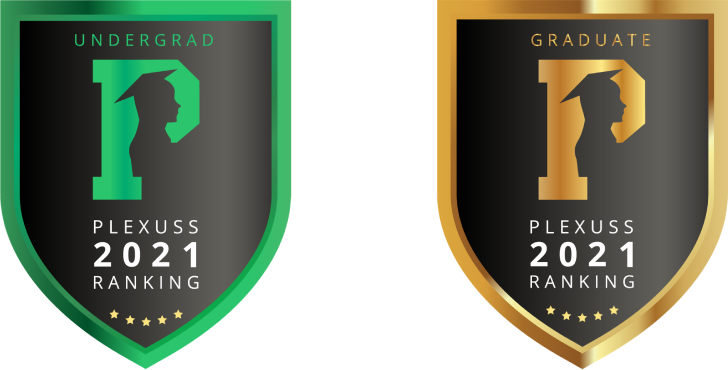 Plexuss badge for top Graduate and Undergraduate degree programs in 2021 ranking in Alabama.