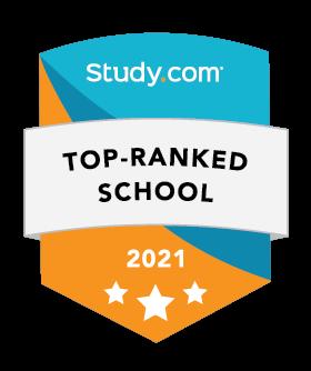 Top Ranked School 2021 Study.com badge